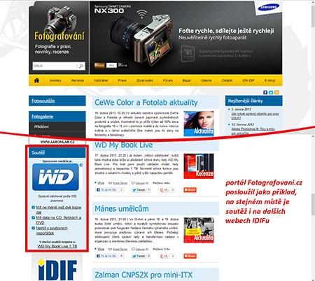 on-line soutěž na portálech IDIF